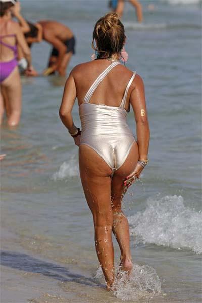 Famosas pilladas en bikini