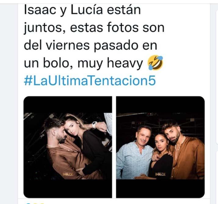 Lucia e Isaac juntos