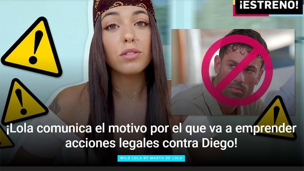 Lola denuncia a su ex pareja Diego